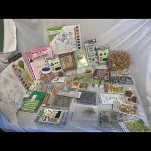 Huge craft supplies lot stamps etc